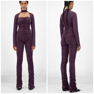 """NWT Daily Paper purple """"Jaanai"""" scrunched pants"""